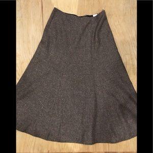 Jones wear flared skirt size 4 brown